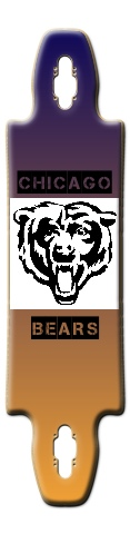 Chicago Bears Gnarliest 40 Skateboard Deck