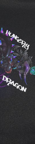 SHP Hungry Dragon (Small GripTape Custom longboard griptape
