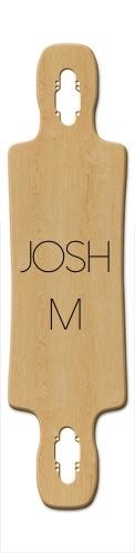 Josh M Gnarlier 38 Skateboard Deck v2