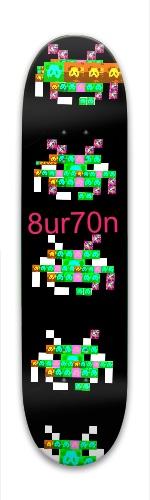 Space invader Park Skateboard 7.88 x 31.495