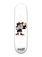 Bombs Away! | white | motif | retro Park Skateboard 8 x 31 3/4