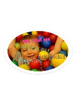 My Story When I was Young Sticker 6 x 4 Oval