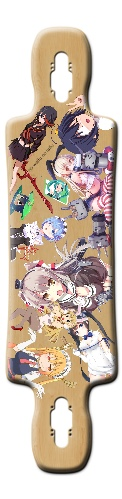 cool kid anime longboard Gnarliest 40 2015 Complete Longboard