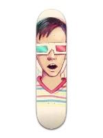 retro3d Banger Park Skateboard 8 x 31 3/4