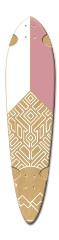 white and pink Dart Skateboard Deck v2