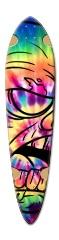 Tie-dye zombie Dart Skateboard Deck v2