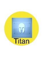 Titan Sticker 4 x 4 Circle