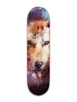 Spirit wolf Banger Park Skateboard 8 x 31 3/4