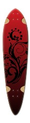 Red Rocket Dart Skateboard Deck v2
