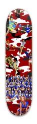 Camo Cheerleader Park Skateboard 8 x 31.775