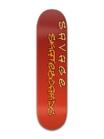 "SAVAGE Skateboards 8"" fade deck Banger Park Skateboard 8 x 31 3/4"