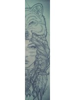 stencil art Custom skateboard griptape
