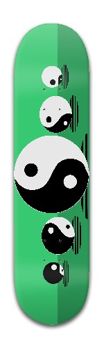 Roll For Peace Design Banger Park Skateboard 8 x 31 3/4