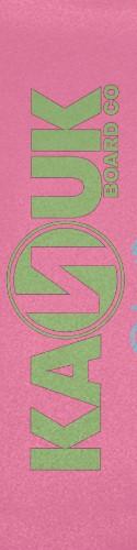 pink and green kanuk Custom skateboard griptape