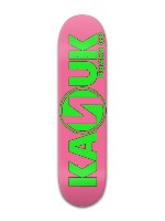 pink and green kanuk board Banger Park Skateboard 8 x 31 3/4