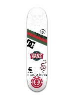 SK8 or DI£ Banger Park Skateboard 7 3/8 x 31 1/8