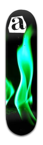 """Green Flame"" Banger Park Skateboard 8 x 31 3/4"