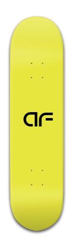 """""""AF yellow"""" Banger Park Skateboard 8 x 31 3/4"""