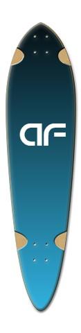 """""""AF sky blue"""" Dart Skateboard Deck v2"""