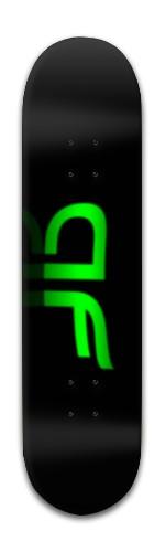 """""""AF Green Blur"""" Banger Park Skateboard 8 x 31 3/4"""