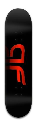 """""""AF fire gold"""" Banger Park Skateboard 8 x 31 3/4"""