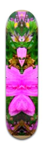 """pink alien"" Banger Park Skateboard 8 x 31 3/4"