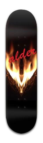 """""""Alder Flames"""" Banger Park Skateboard 8 x 31 3/4"""