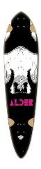 """""""Open Flame Alder"""" Dart Skateboard Deck v2"""