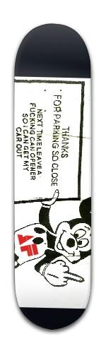"""F.U. "" Banger Park Skateboard 8 x 31 3/4"