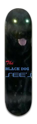 """the black dog' Banger Park Skateboard 8 x 31 3/4"