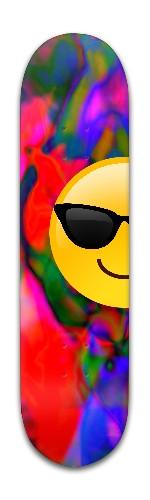 'half Smile' Banger Park Skateboard 8 x 31 3/4