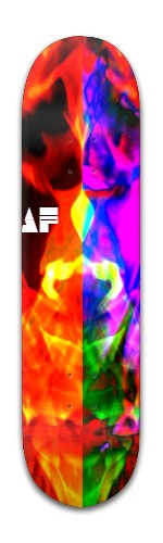 """the laughing rainbow"" Banger Park Skateboard 8 x 31 3/4"