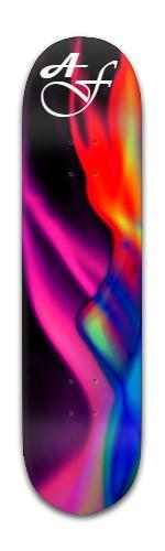"""af """"rainbow flame"""" Banger Park Skateboard 8 x 31 3/4"""