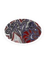 Davis Sticker 6 x 4 Oval