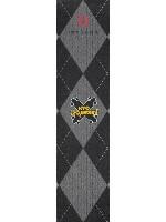Black and Gray Carpet Custom longboard griptape