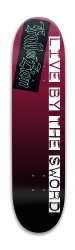 Live By the Sword Zion Sticker Park Skateboard 7.88 x 31.495