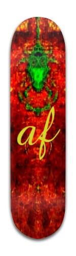 af Green Face Banger Park Skateboard 8 x 31 3/4