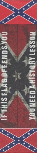 Confederate History Lesson Custom longboard griptape