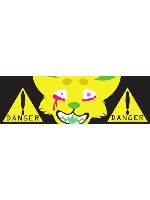 DANGER! Sticker 11.5  x 3.75 Bumper Sticker