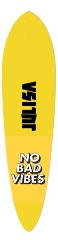 no bad vibes Classic Pintail 10.25 x 42
