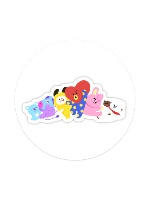 BT21 Group1 Sticker 4 x 4 Circle