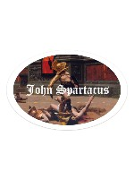 John Spartacus Sticker 6 x 4 Oval