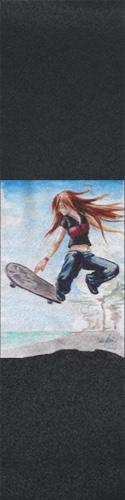 skater girl Custom skateboard griptape