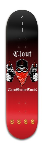 CocoButterToots Clout Banger Park Skateboard 8 x 31 3/4