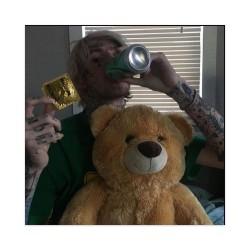 peep loves bears Sticker 4 x 4 Square