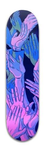 blue hands Park Complete Skateboard 8 x 31 3/4