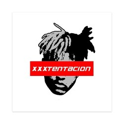 xxxtentacion supreme Sticker 4 x 4 Square