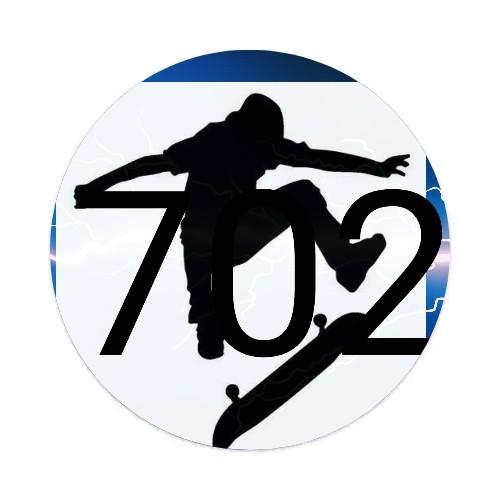 Wickid Boyz 702 Sticker 4 x 4 Circle