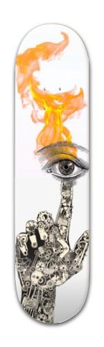 More Than The Eye Sees Banger Park Skateboard 7 7/8 x 31 5/8