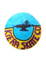 kiera skate-co logo Sticker 4 x 4 Circle